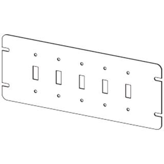 CM-4M5-TS - 5 Gang Switch Box Cover