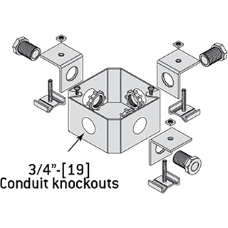 JB3C - Junction Box Universal With 3 Connectors