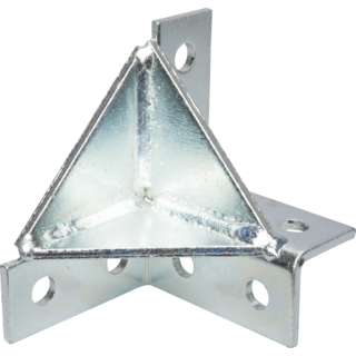 W210 - Wing Fitting Double Corner Double Gusset 8 Hole