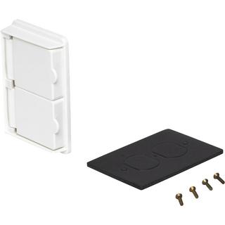 WDRE15/10WH - 1 Gang Weatherpoof Double Door Duplex Receptacle Cover